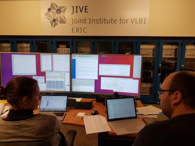 Users analyzing EVN data